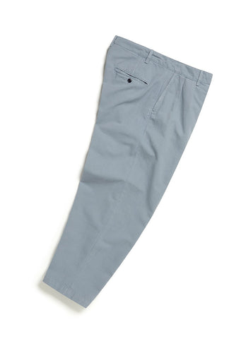 Pleated Trouser in Steel Blue