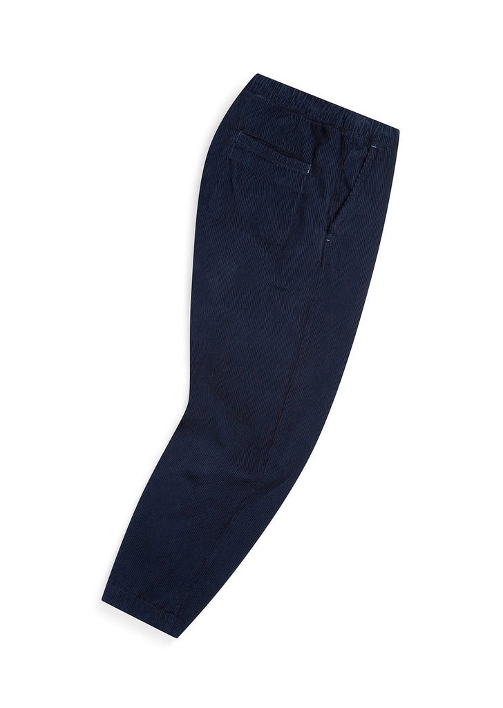Utility Corduroy Drawstring Trouser in Navy