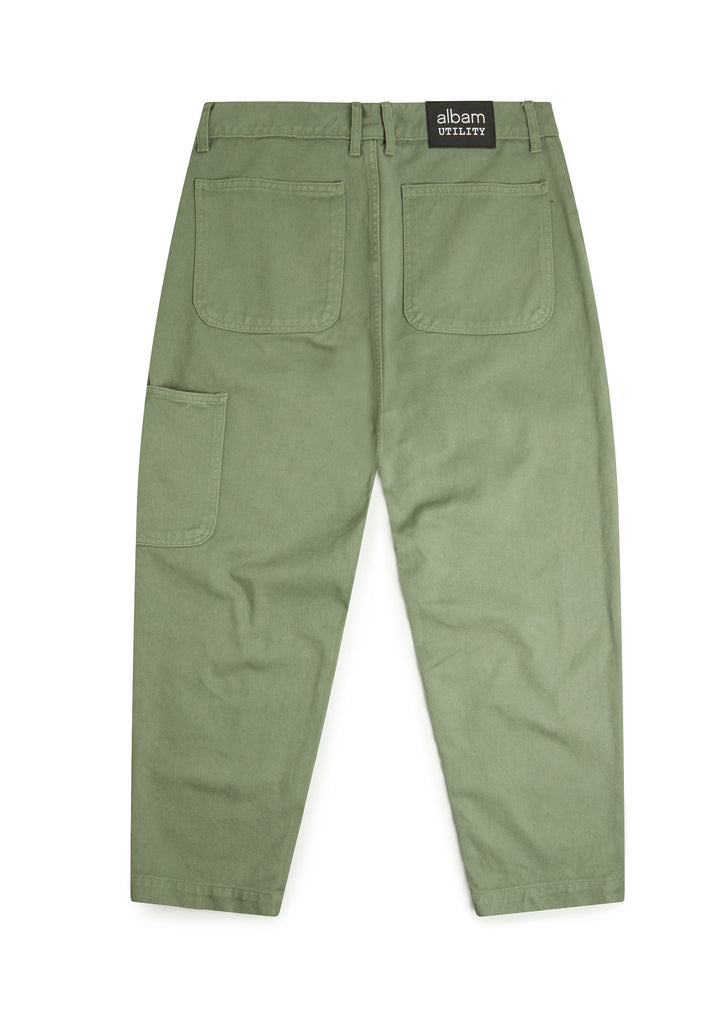 Utility Slim Fit Work Trouser in Overall Green