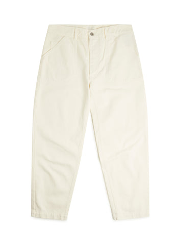 Utility Slim Fit Work Trouser in Ecru
