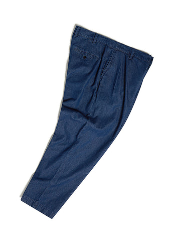Pleat Trouser in Chambray