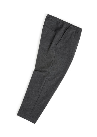 Wool Drawstring Trouser in Grey