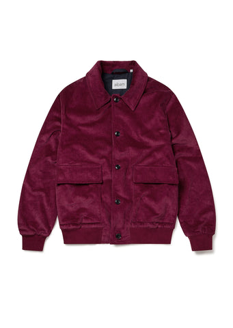 Classic Bomber in Maroon