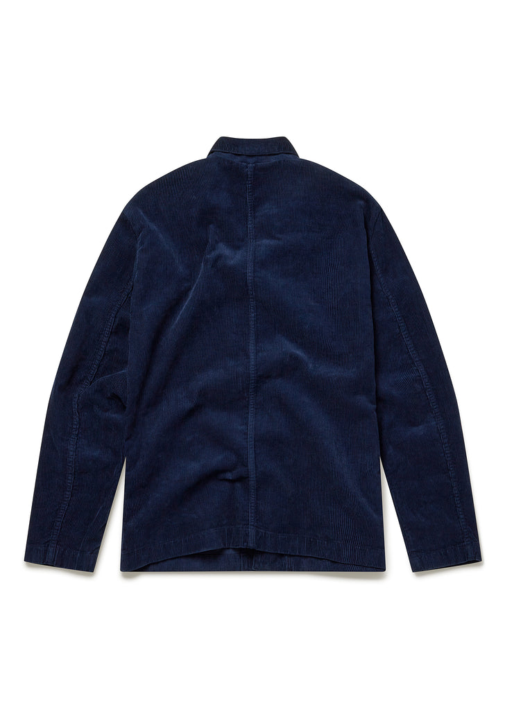 Cord Board Blazer in Dark Navy