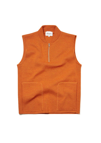 Milano Gilet in Burnt Orange