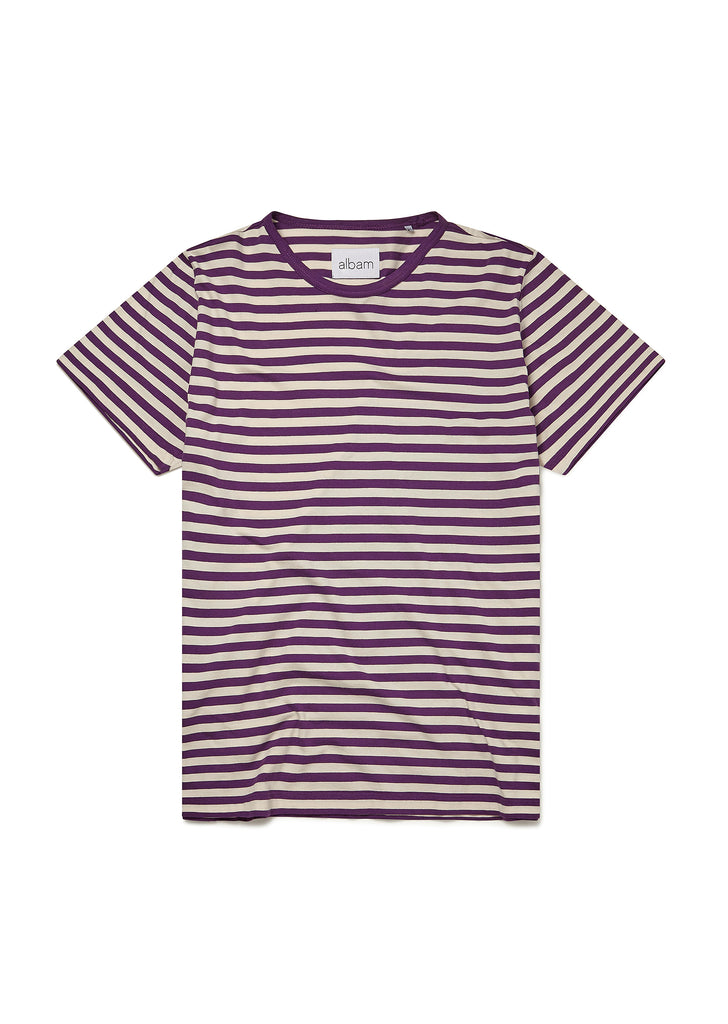 Simple Stripe T-Shirt in Purple