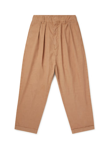 Havana Double Pleat Trouser in Sand