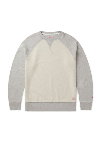 Utility Raglan Sweat in Grey Marl
