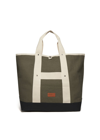 Market Tote (Mid Size) in Olive