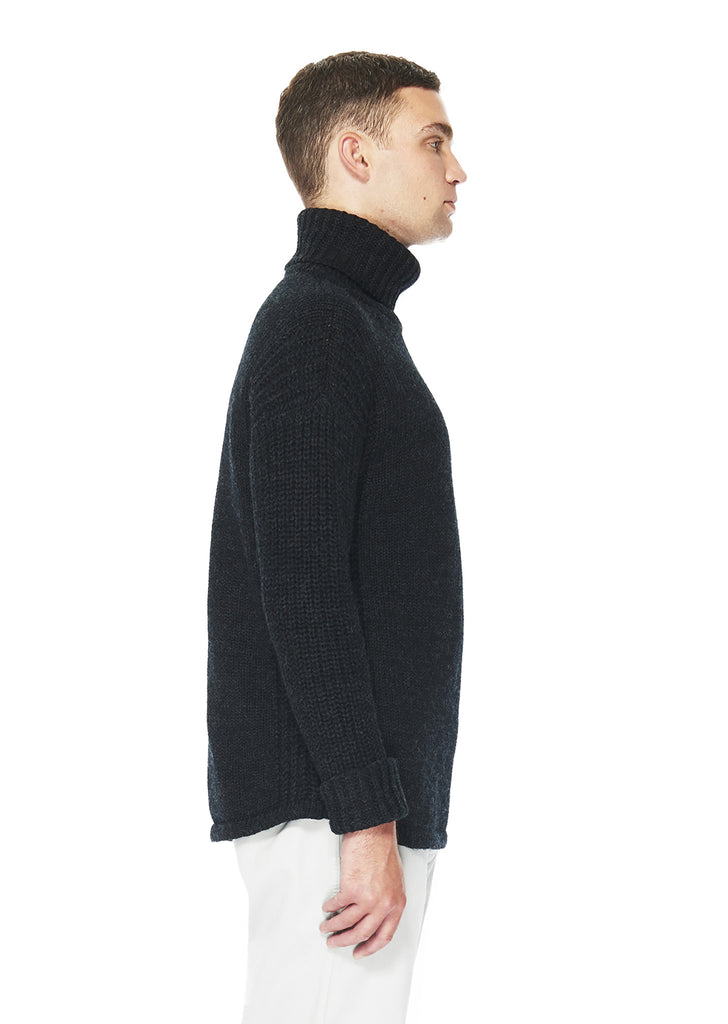 Chunky Roll Neck in Charcoal