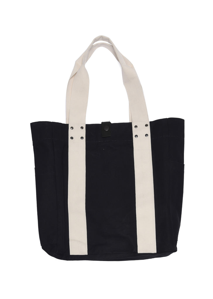 Travel Tote Bag in Black/Ecru