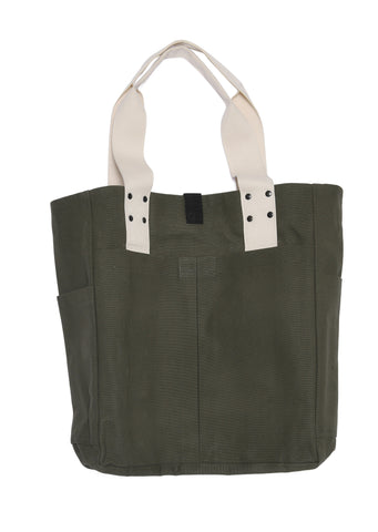 Travel Tote Bag in Khaki/Ecru