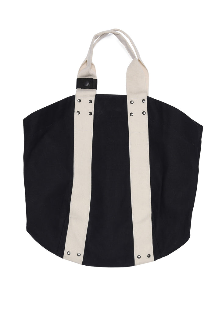 Trade Tote Bag in Black/Ecru