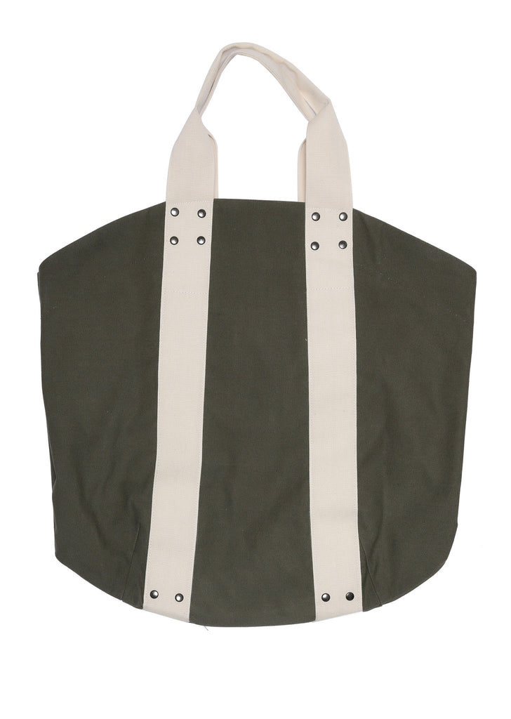 Trade Tote Bag in Khaki/Ecru