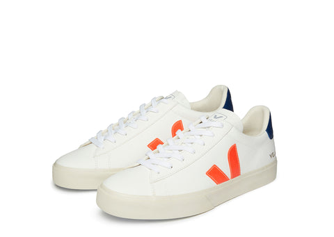 Veja Campo in Extra White Fluo Orange Cobalt