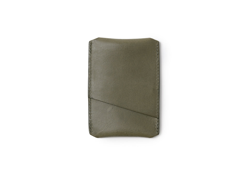 Campbell Cole Simple Card Holder in Khaki