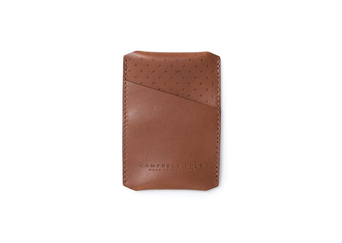 Campbell Cole Simple Card Holder in Tan