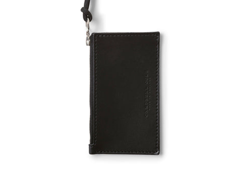 Campbell Cole Simple Coin Pouch W/Lanyard in Black