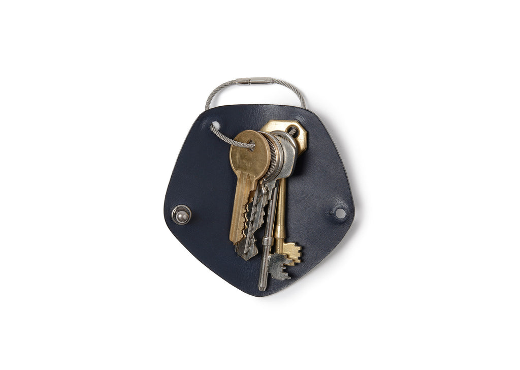Campbell Cole Simple Key Holder in Navy