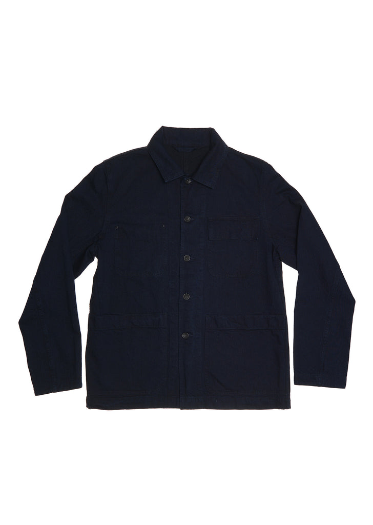 Indigo Chore Jacket in Navy