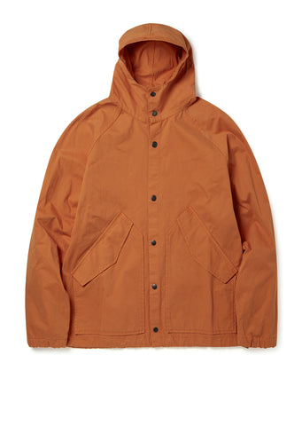 Hooded Parka in Burnt Orange