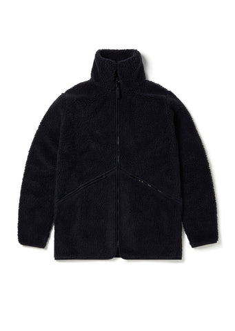 Fleece Zip Jacket in Indigo