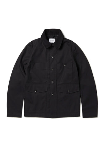 Four Pocket Chore Jacket in Black