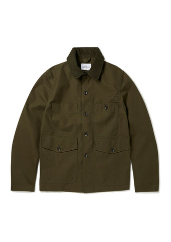 Four Pocket Chore Jacket in Leaf Green
