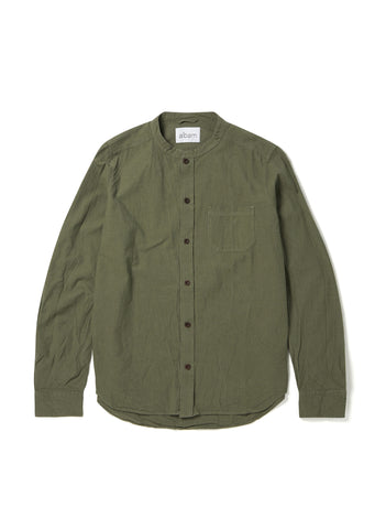 Grandad Shirt in Leaf Green
