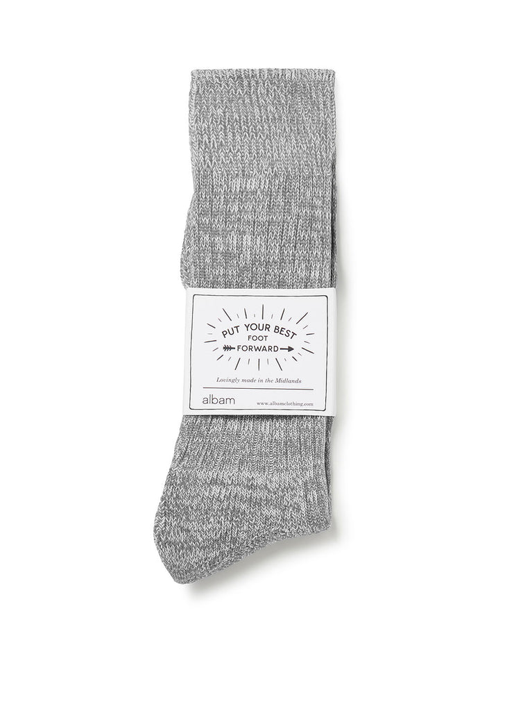 Marl Sock in Grey