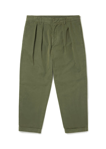 Havana Double Pleat Trouser in Olive
