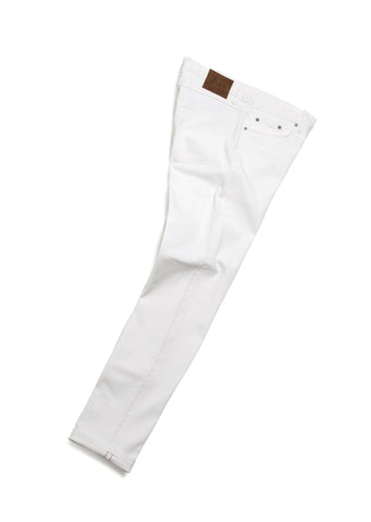 Regular Fit Selvedge Jeans in White