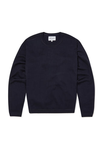 Merino Sports Knit in Dark Navy