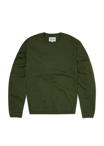 Merino Sports Knit in Leaf Green