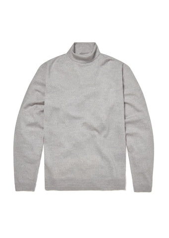Merino Turtle Neck in Marl Grey
