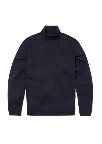Merino Turtle Neck in Dark Navy
