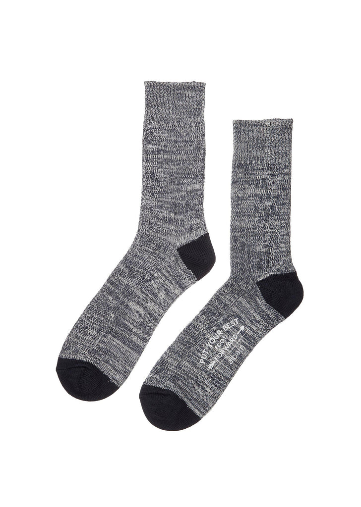 Marl Socks in Navy