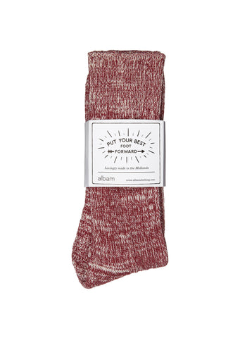 Marl Socks in Burgundy