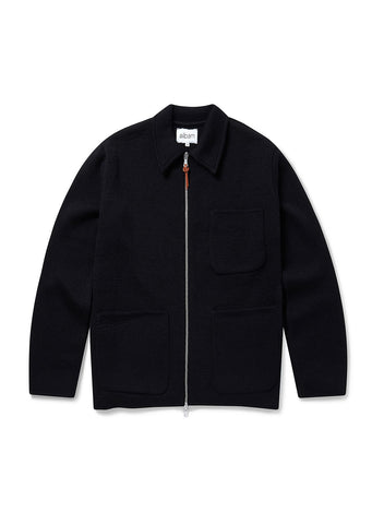 Milano Zip Work Jacket in Black