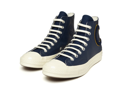 Converse 70's CTAS HI Leather in Navy