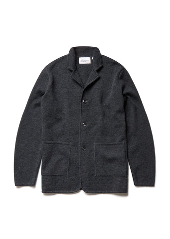 Milano 3 Button Jacket in Charcoal