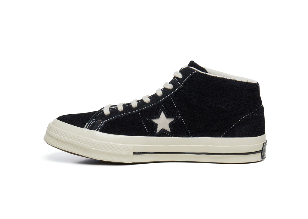 Converse One Star '74 Mid Vintage Suede in Black