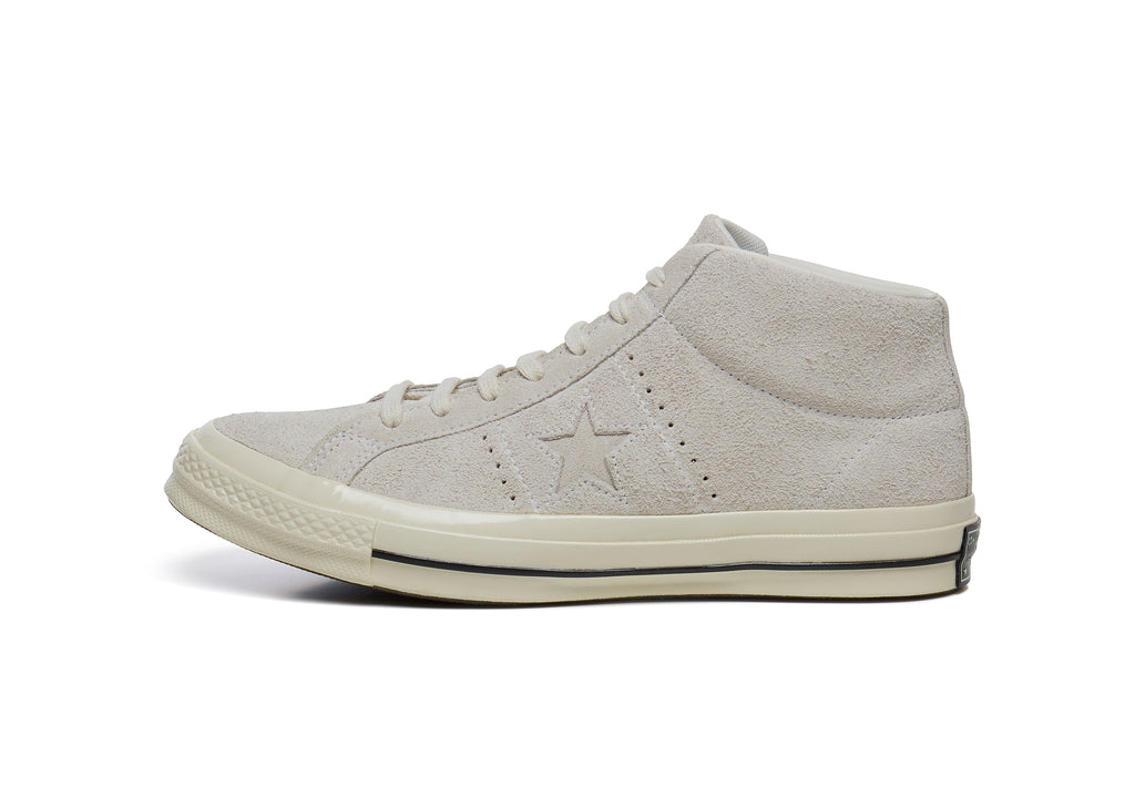 Converse One Star '74 Mid Vintage Suede in Egret