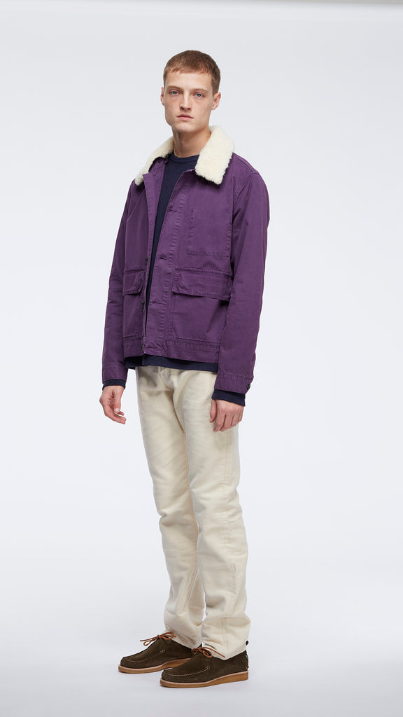 New - Sherpa Collar Jacket in Peacoat