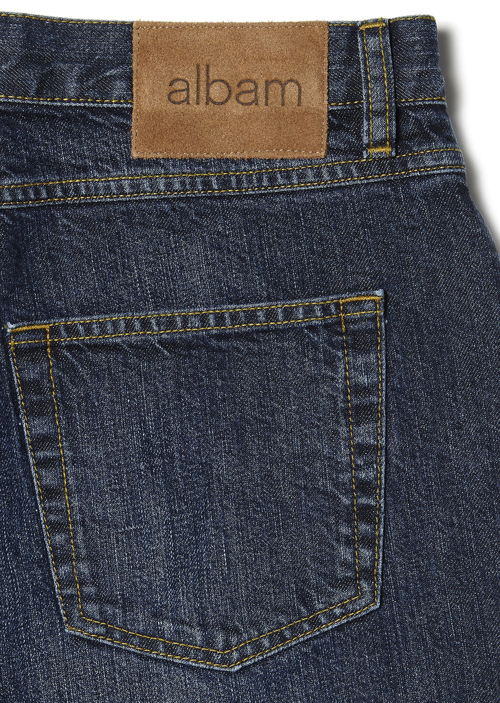 Washed Slim Leg Jean