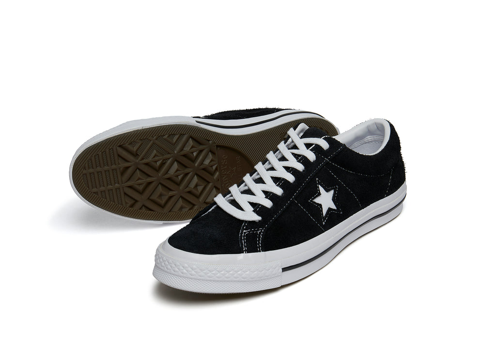 Converse One Star '74 Vintage Suede in Black