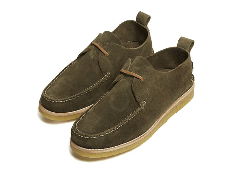 Yogi Lawson Crepe Shoe in Olive