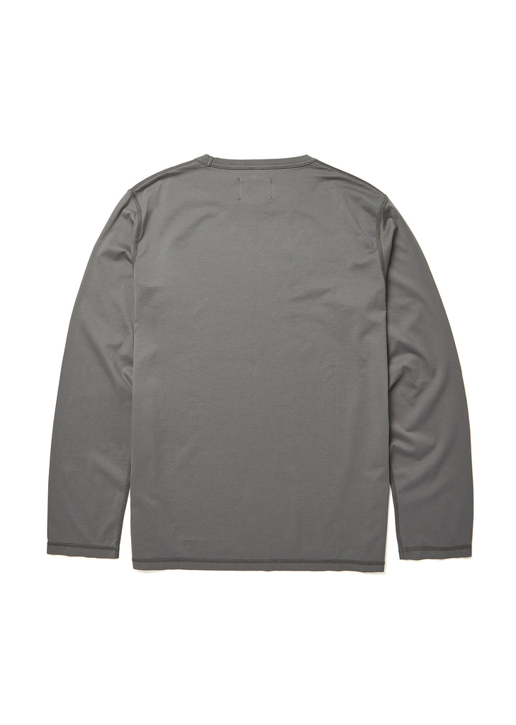 Loose Fit Long Sleeve T-Shirt in Slate Grey