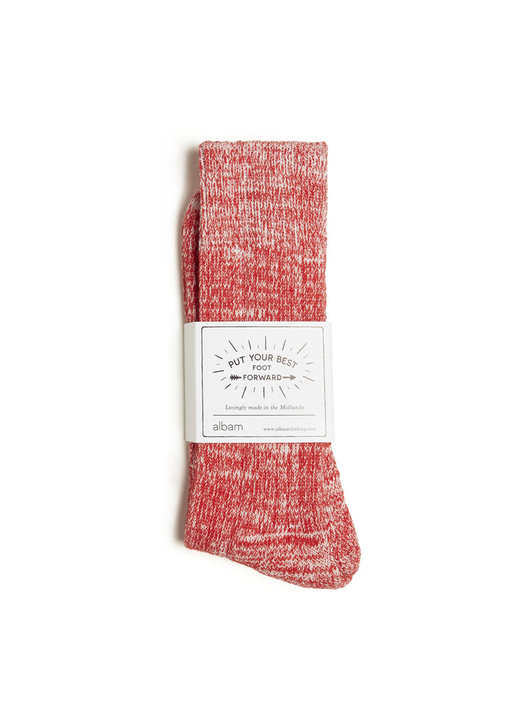 Marl Socks in Red