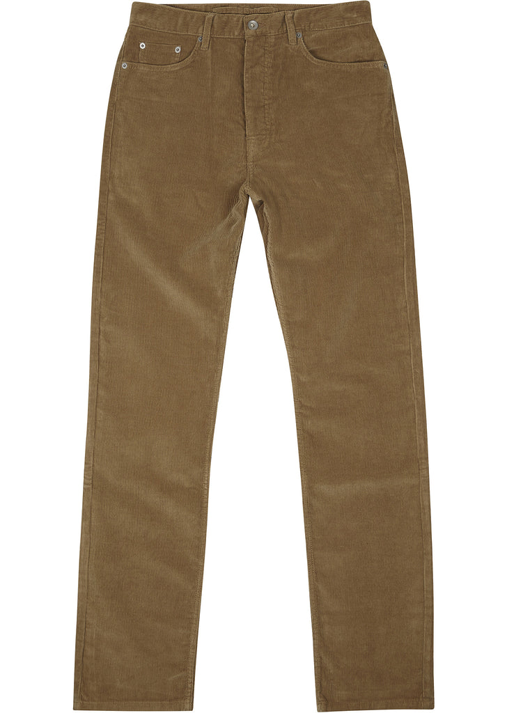 Straight Leg Cord Jean in Olive